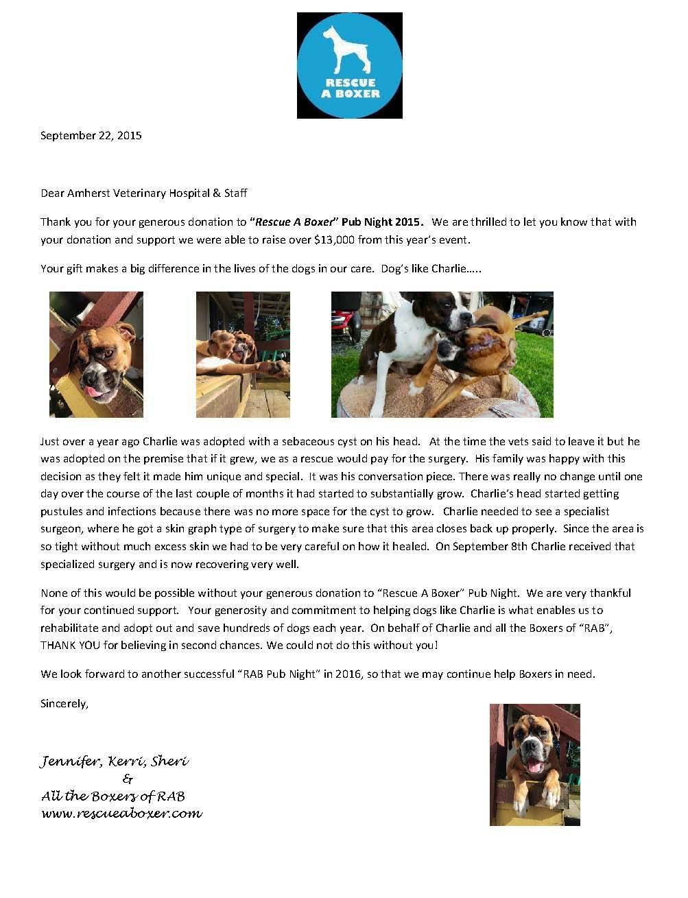 Rescue A Boxer Thank You Letter