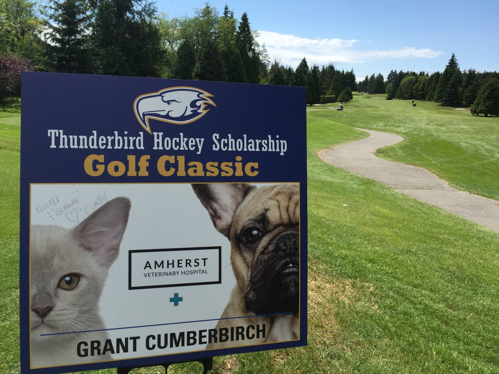 Amherst Helps to Sponsor UBC Golf Tournament